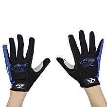 Paired Sport Motocross Mountain Bike Bicycle MTB Cycling Full Finger Gloves For Men Women - Blue
