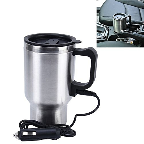 Stainless Steel Travel Coffee Mug 0 5 Litres Cup Heated Thermos Smart 12v