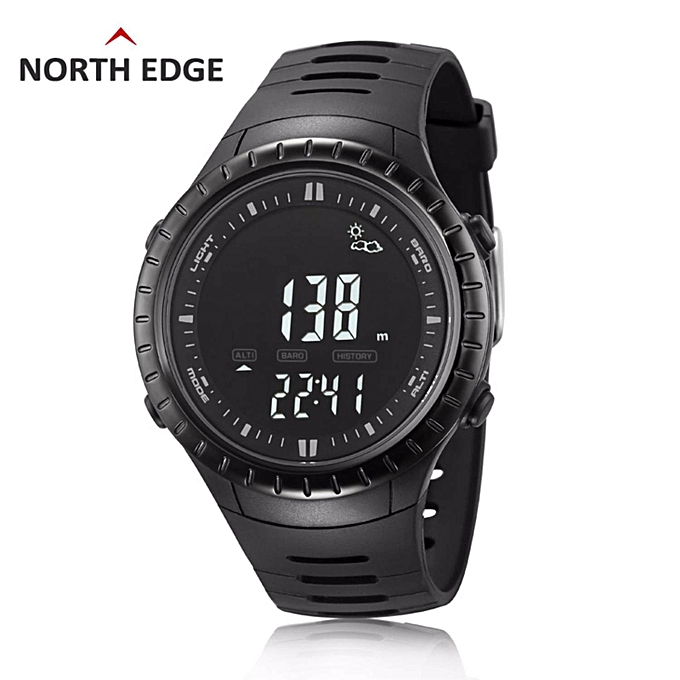 NORTH EDGE digital watches Men Watch with Weather forecast Altimeter  Barometer Thermometer Altitude for Climbing Hiking Fishing Outdoor sports  By
