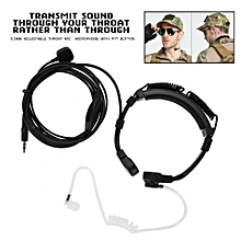 3.5mm Adjustable Throat Mic Microphone Earpiece With Finger PTT for iPhone Galaxy Mobile Phone