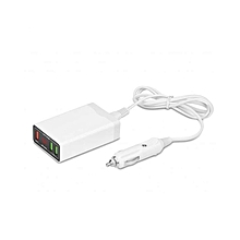 LED Display  3 Port USB Car Charger Adapter for iPhone Smartphone PSP and More
