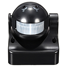 180° PIR Motion Activated Sensor LED Light Indoor Outdoor Garden Patio Wall Shed (Black)
