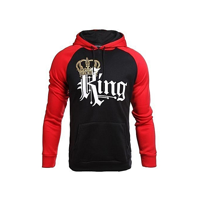 5fa9d1093c1f Fashion Eleganya King And Queen Hoodies Pullovers Valentine New Multi  Colors Matching Cute Love Couples Crown Print