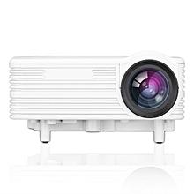 LED-1018 Mini Portable LCD Projector With HDMI USB VGA AV SD Multimedia Interfaces(US Plug) - White