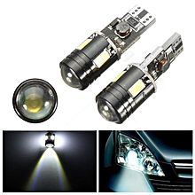 2 PCS Xenon White CAN-bus Error Free T10 2825 W5W CREE LED Parking Eyelid Light Bulbs