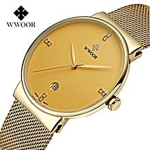 Golden Quartz Mens' Wrist Watch