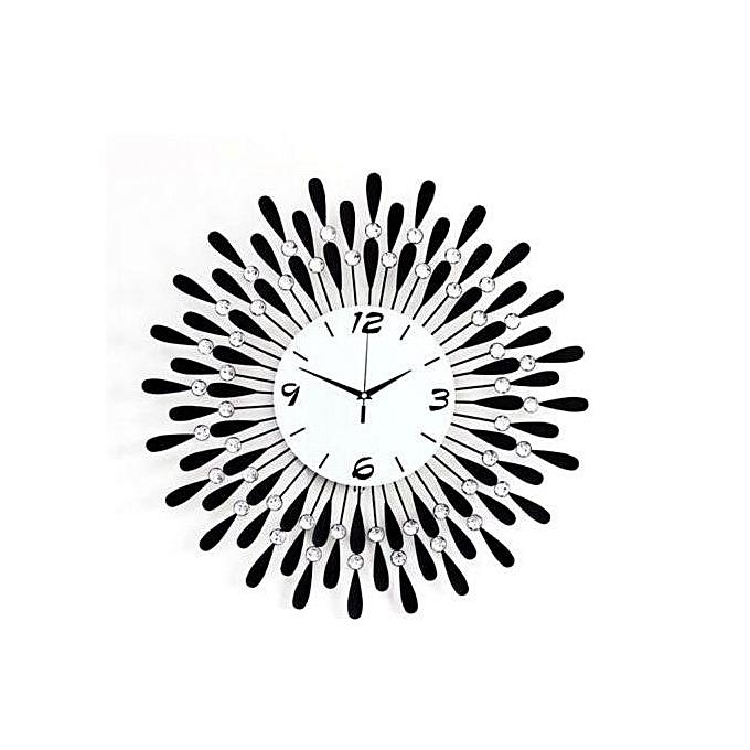 Generic Luxury Art Dial Wall Clock Metal Living Room Digital Needle