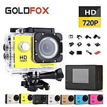 SJ4000 Mini Action Camera, Full HD 720P 30m Waterproof Sports DV Camcorder with 2 Inch LCD Screen for Extreme Outdoor Sports JY-M