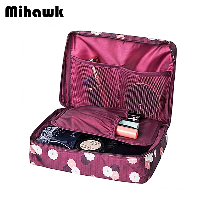 2a82eb6e9e5e Trip Women Travel Toiletry Wash Bra Underwear Makeup Case Cosmetic Bag  Organizer Accessories(pink smile)