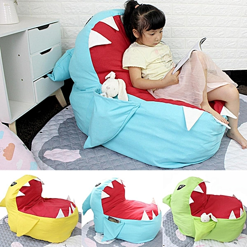 Generic Children Shark Bean Bag Lazy Sofa Kid Baby Gaming Chair With