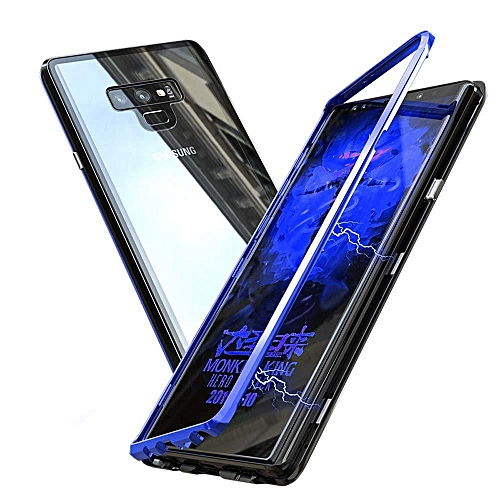 los angeles ef276 b05b2 Galaxy Note 9 Case,Ultra Slim Hybrid Aluminum Metal Bumper Frame With  Tempered Glass Back 2 In 1 Magnetic Adsorption Case Cover For Samsung  Galaxy ...