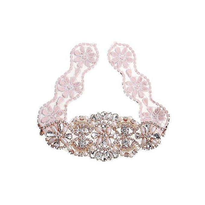 7a9c801c75 Crystal Bridal Sash Rhinestone Pearl Applique For DIY Wedding Bridal Dress  Belt