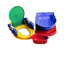 Baby Close Stool Toilet Trainer - Multicolour