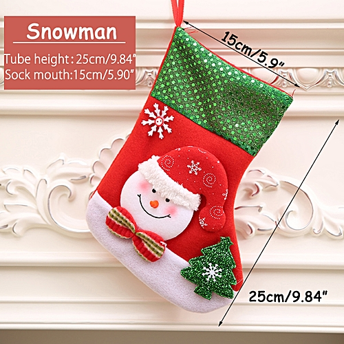 Generic Personalised Christmas Decor Stocking Santa Tree Hanging Decoration Candy Bags