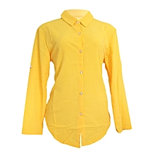 A Yellow long sleeved/pilot official top.,