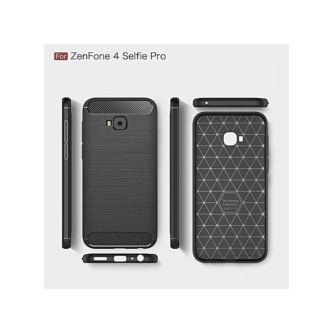58fccafb0 ... High Quality Soft Rugged Armor Case For Asus ZenFone 4 Selfie Pro ZD552KL  Carbon Fiber ...