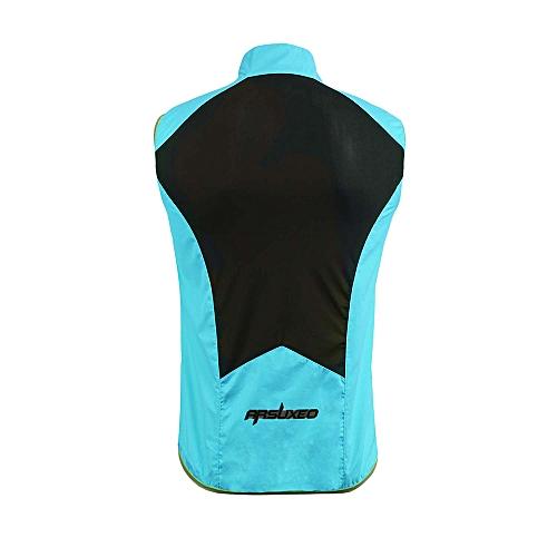 8dcc0eec5d8e17 Generic ARSUXEO Men*s Sleeveless Cycling Jersey Full Zipper Breathable  Running Tops