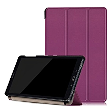"For Samsung Tab A 10.1"" Case, Ultra Slim Case + PU Leather Smart Cover Stand Auto Sleep/Wake For Galaxy Tablet SM-P580N P585N, Purple"