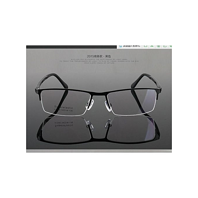 048f3a51cbc4 Men Glasses Metal Spectacles Optical Half Rimless Eyeglass Frame Eyewear HOT