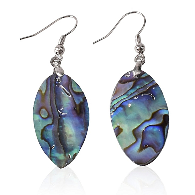 d4254a39736 TB Natural Abalone Shell Pendant Dangle Earring For Women Eardrop Fashion Jewelry  multicolor
