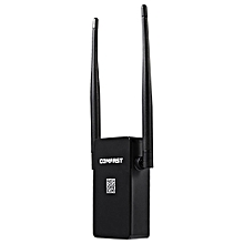 CF - WR302S 300M WiFi Repeater Dual 5dBi Antenna Signal Booster with Four Modes - Black
