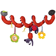 Cute Colorful Baby Hanging Bell Crib Rattle Toys Spiral Bed & Stroller Toy New