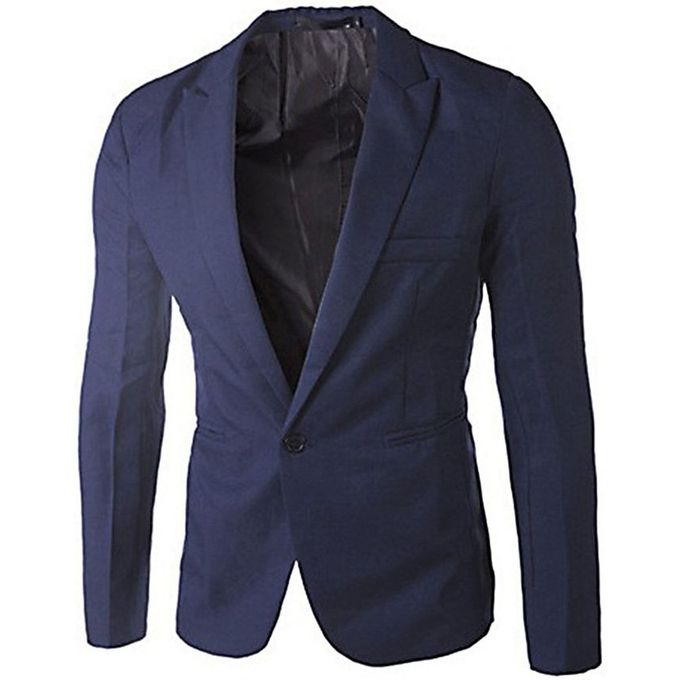 Blazers Jumia: FASHION Slim Fit Men's Blazer Jacket - Navy Blue