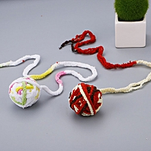 Pet Cat Toy Ball Cat Supplies Cat Interactive Toy Cat Yarn Ball Rope Knot light white