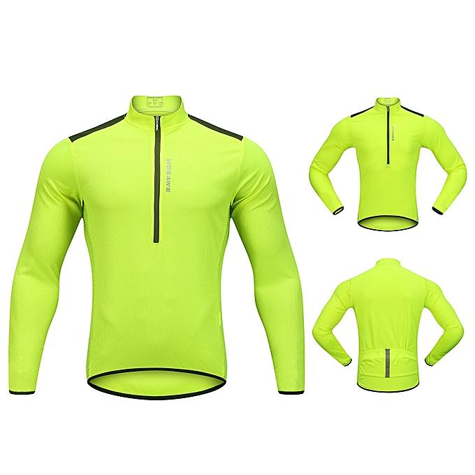 ... Wosawe Men s Cycling Jersey Spring Autumn Half-zip MTB Bike Riding Long  Sleeve Shirt Clothing ... 3d0591c0e