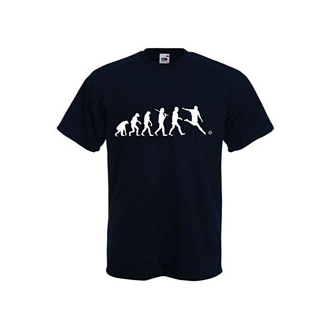 3f47fa8c75f0 Mens T Shirt Fashion Men s Evolution Of Football Men Cotton T Shirt Funny  Shirts Men s Gifts