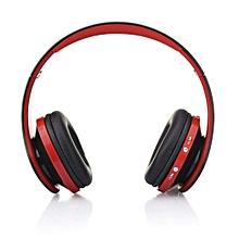 Foldable Wireless Headphone ,Bluetooth Stereo Headset (Red)