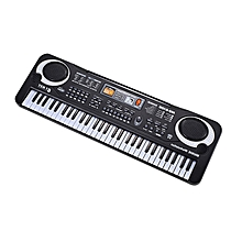 CO 61 Keys Electronic Piano Keyboard With Microphone Children Musical Instrument-black & white