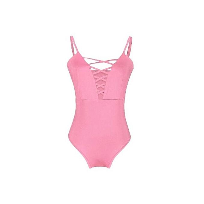 8c260ee645815 Xingbiaocao Women s One Piece Swimsuit Swimwear Floral Monokini Push Up  Bikini Beachwear PKS -Print