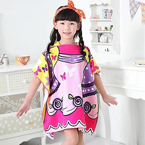 a30b481d4 Generic Children Beach Towel Hooded Cloak Kids Boy Girl Baby Bath ...