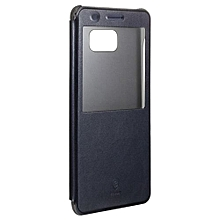 For Samsung Galaxy Note7 Case Brand BASEUS Sunie Series Window Flip Leather Case For Galaxy Note7 Back Cover(Dark Blue)