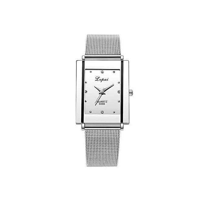 e4f401e15bd Generic Refined Fashion Women Men Mesh Belt Watches Analog Quartz Movement  Watch (White)