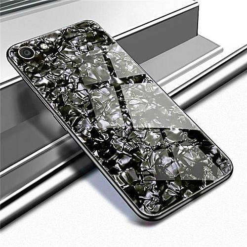 quality design f9e7b b7313 For VIVO V5 Luxury Hard Tempered Glass Case Marble Shell Pattern Design  Glass Back Cover For VIVO V5 Housing 326289 (Black)