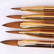 bluerdream-5pcs Acrylic Nail Art UV Gel Carving Pen Brush Liquid Powder No.2 4 6 8 10-Multicolor