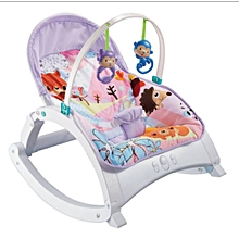 2 IN 1 Music Toddler Portable Rocker Dining Table Newborn to Toddler WITH MUSIC & VIBRATIONS