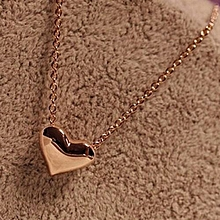 Olivaren Fashion Women Gold Heart Bib Statement Chain Pendant Necklace Jewelry -Gold