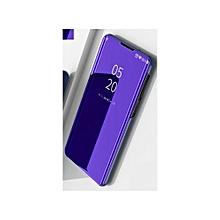 Samsung Galaxy Note 9(Samsung Galaxy Note9) Leather Case, Pu Leather Flip Case Cover For Samsung Galaxy Note 9(Samsung Galaxy Note9) With Stand Function And Plating Mirror - Purple Blue.