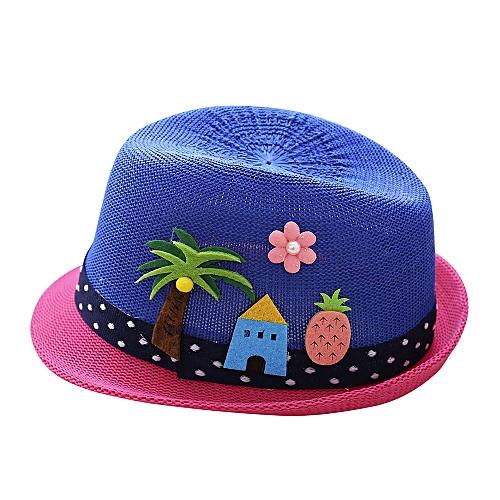 f314ee76a jiuhap store Summer Baby Hat Cap Children Breathable Hat Show Kids Hat Boy  Girls Hats Caps-Dark Blue