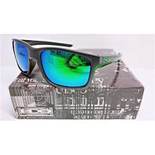 Asian Fit STRAIGHTLINK SUNGLASSESOO9336-03 Matte Black /Green Mercury Lens
