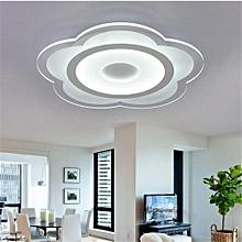 Modern Simple Square Acrylic LED Ceiling Light Living Room Bedroom Home Lamp#Full White Light