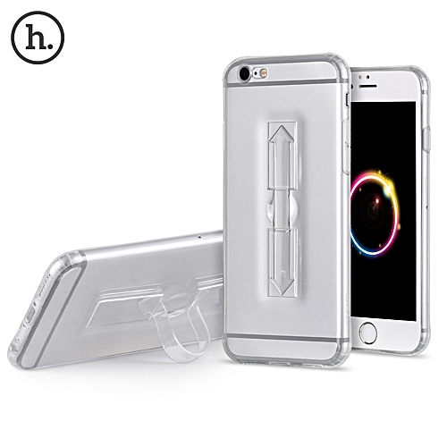 1 Piece HOCO 4.7 Inch Soft Transparent TPU Phone Cove Ring Bucket Case for iPhone 6 / 6s