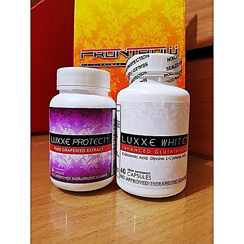 LUXXE WHITE ENHANCED GLUTATHIONE & LUXXE PROTECT PURE GRAPESEED EXTRACT -  SET