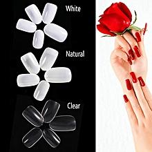 TMISHION 600Pcs Fake Nail 10 Sizes Round Artificial Fingernails Manicure Decor