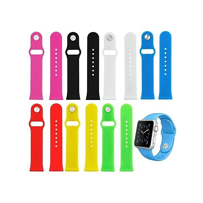Colour :Purple--Silicone Soft Sport Watch Band Smart Watch Band Iwatch Band Strap