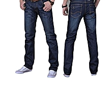 f038e5c13 Grace Mens Casual Plus-size Comfortable Cotton Denim Slim-fit Straight Long  Simple Jeans