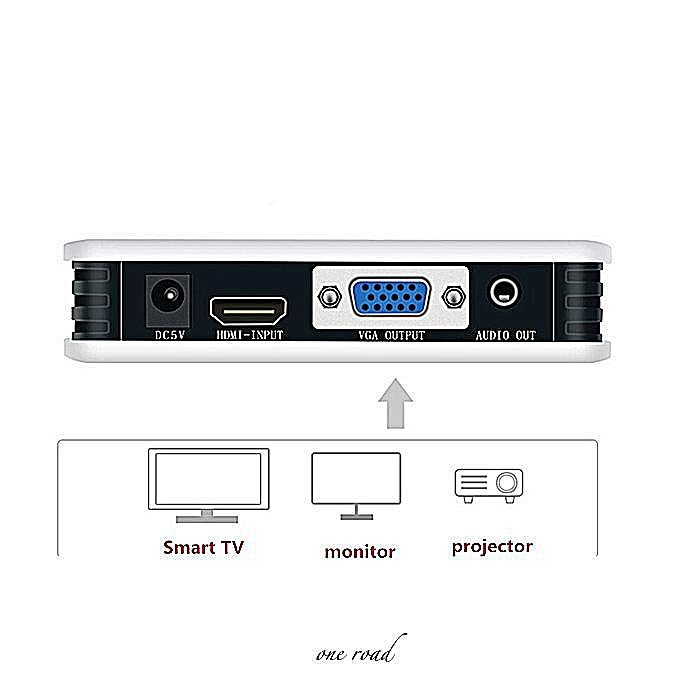 Hdmi To Vga Converter High Definition Audio And Video Synchronization  Conversion Support 1080P